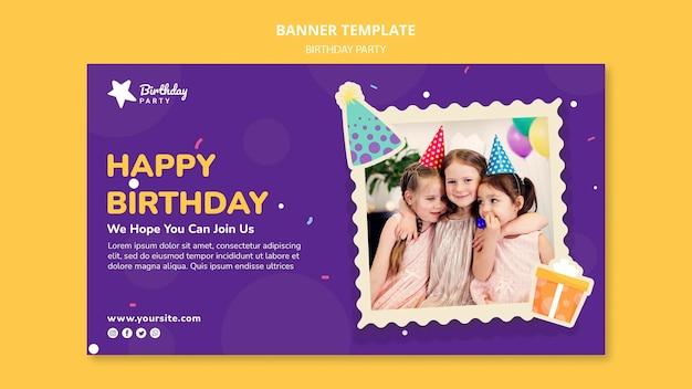 Szablon transparent szczęśliwy urodziny