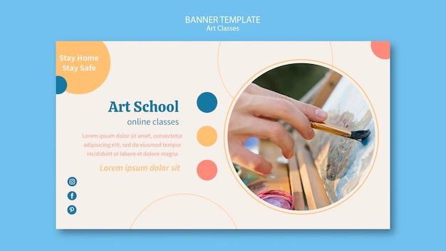 Szablon transparent szkoły artystycznej