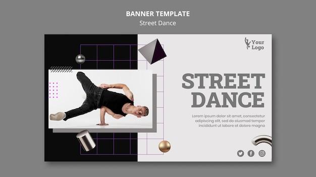 Szablon transparent tańca ulicznego
