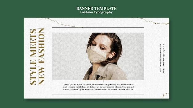 Szablon transparent typografii mody