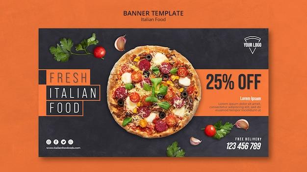 Szablon transparent włoskiej żywności