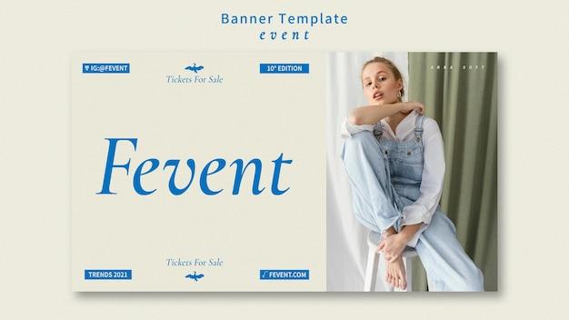 Szablon transparent wydarzenie mody