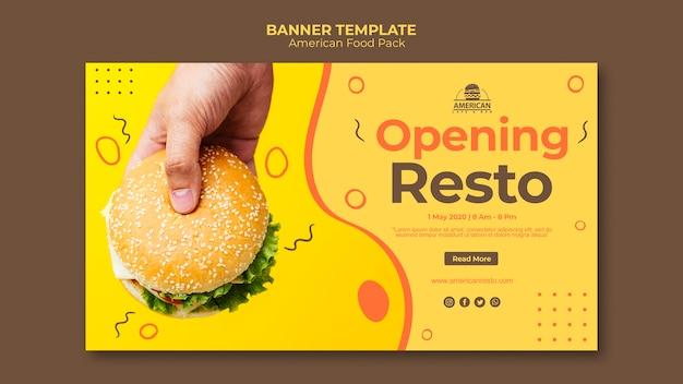 Szablon transparent z amerykańskim jedzeniem