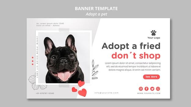 Szablon transparent z motywem adoptującym zwierzaka