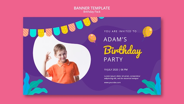 Szablon transparent z przyjęciem urodzinowym