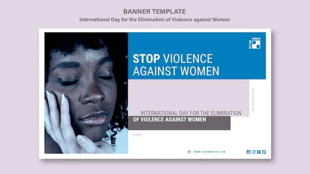 Szablon transparent zatrzymania przemocy wobec kobiet