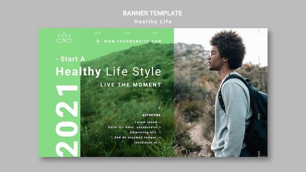 Szablon transparent zdrowego stylu życia