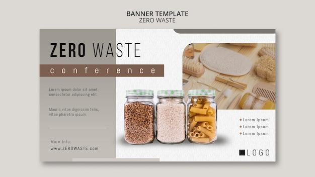 Szablon transparent zero odpadów ze zdjęciem