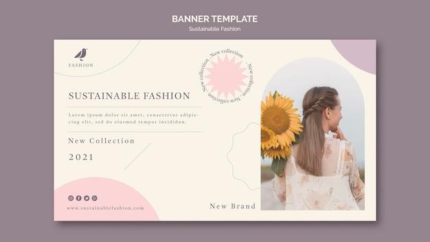 Szablon transparent zrównoważonej mody kobiety