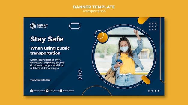 Szablon transparentu bezpiecznego transportu