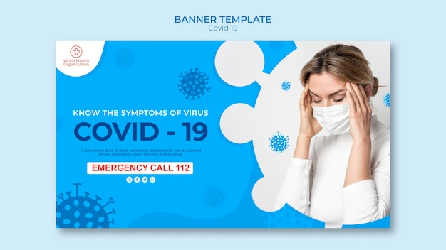 Szablon transparentu covid-19