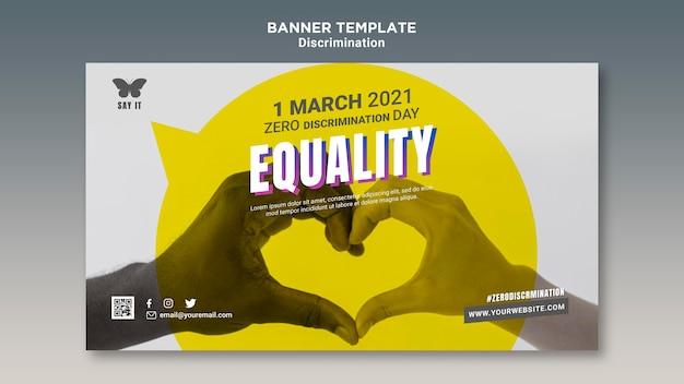 Szablon Transparentu Dnia Zerowej Dyskryminacji Ze Zdjęciem Darmowe Psd