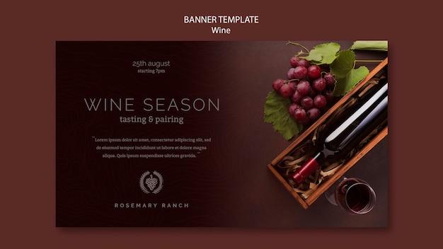 Szablon transparentu do degustacji wina z winogron