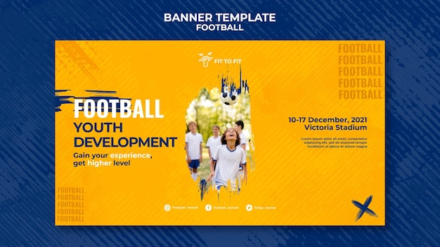 Szablon transparentu do treningu piłki nożnej dla dzieci