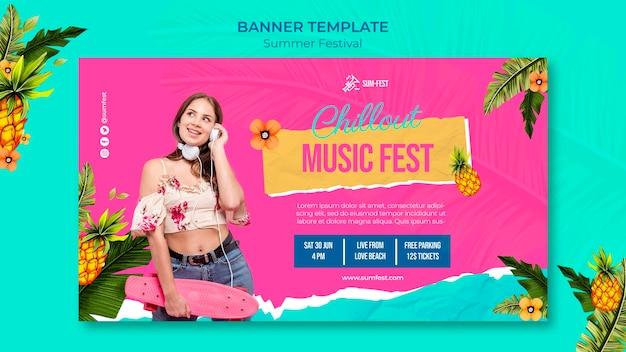 Szablon transparentu festiwalu muzycznego
