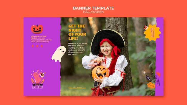 Szablon transparentu halloween ze zdjęciem