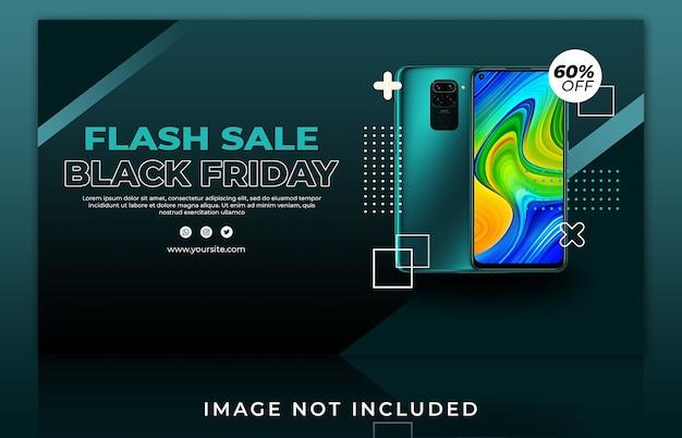 Szablon transparentu internetowego smartfona sprzedaży flash