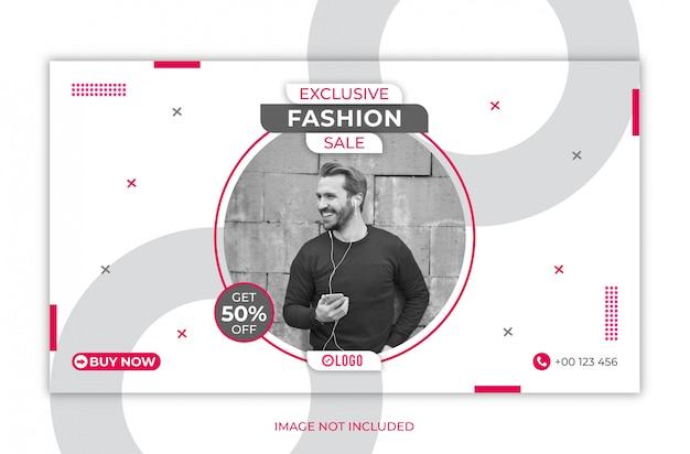 Szablon transparentu internetowego sprzedaży mody