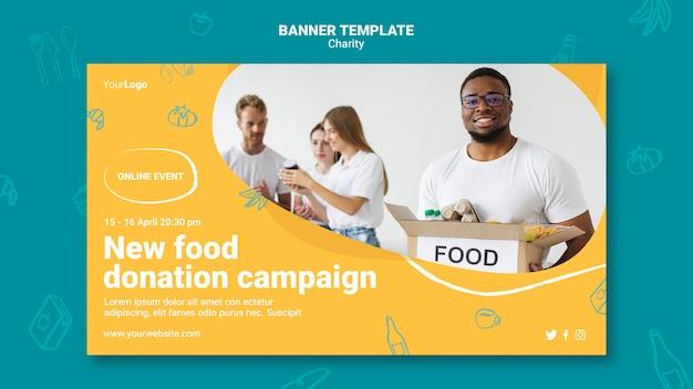 Szablon transparentu kampanii charytatywnej
