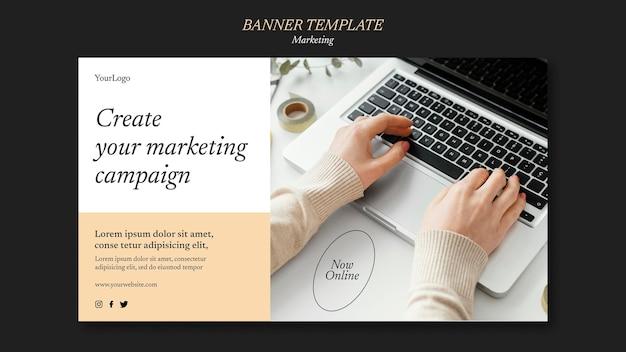 Szablon transparentu kampanii marketingowej