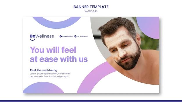 Szablon transparentu koncepcji wellness