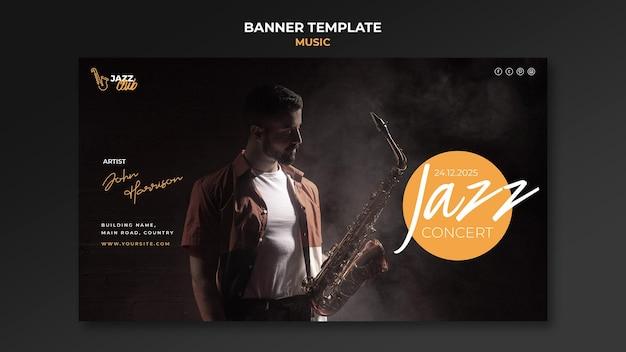 Szablon transparentu koncertu jazzowego