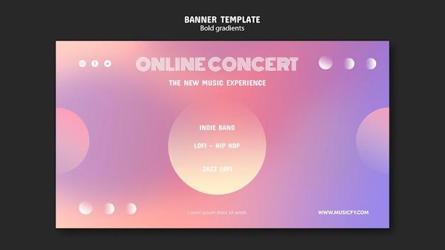 Szablon transparentu koncertu online