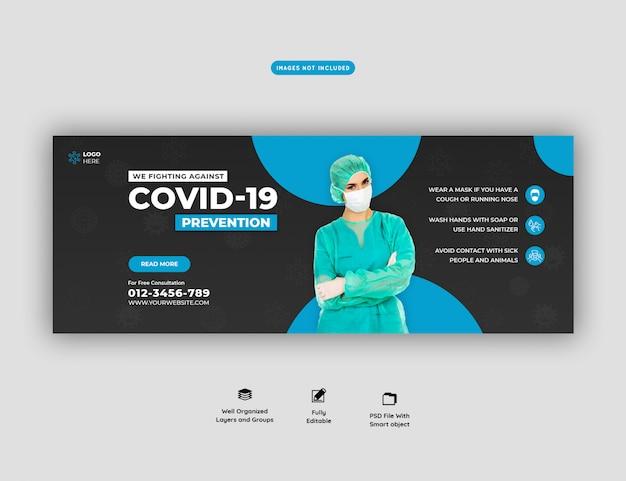 Szablon transparentu koronawirusa lub covid-19