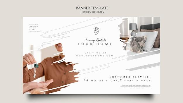 Szablon transparentu luksusowego wynajmu