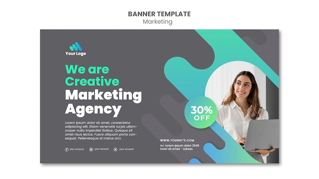 Szablon Transparentu Marketingu Cyfrowego Premium Psd