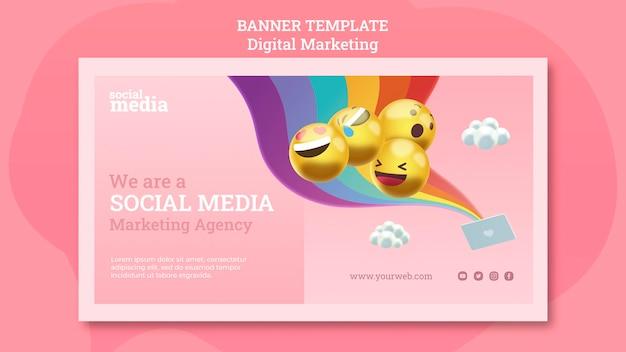 Szablon transparentu mediów społecznościowych