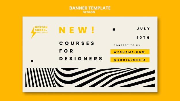 Szablon transparentu na kursy projektowania graficznego