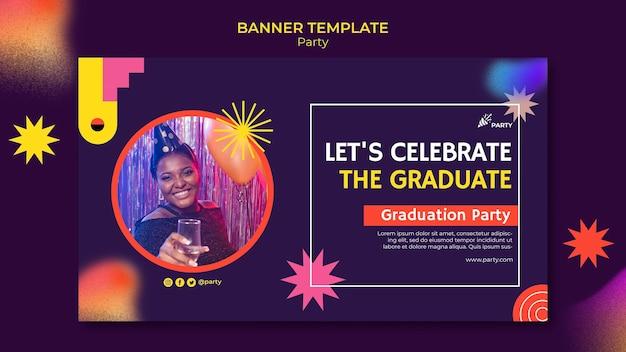 Szablon transparentu na przyjęcie z okazji ukończenia szkoły