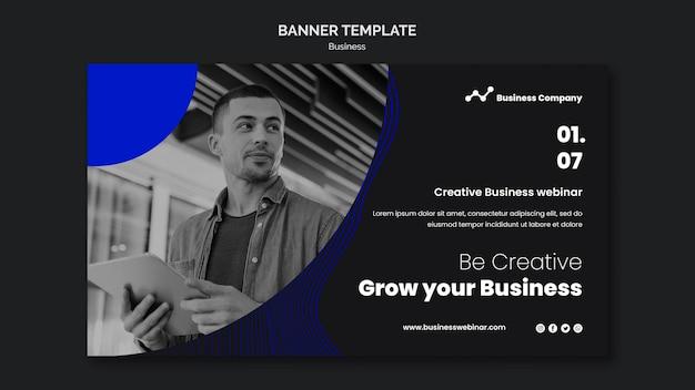 Szablon transparentu na webinarium biznesowe