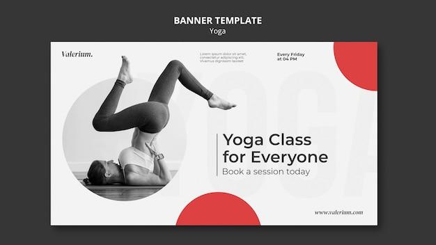 Szablon transparentu na zajęcia jogi z instruktorką