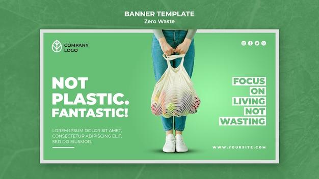 Szablon transparentu na zero odpadów
