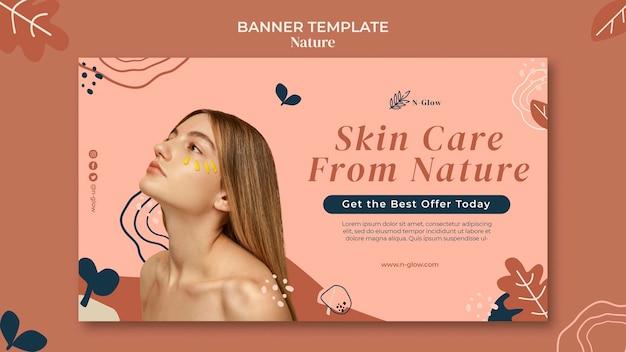 Szablon transparentu naturalnych produktów do pielęgnacji skóry