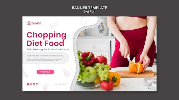Szablon transparentu planu diety