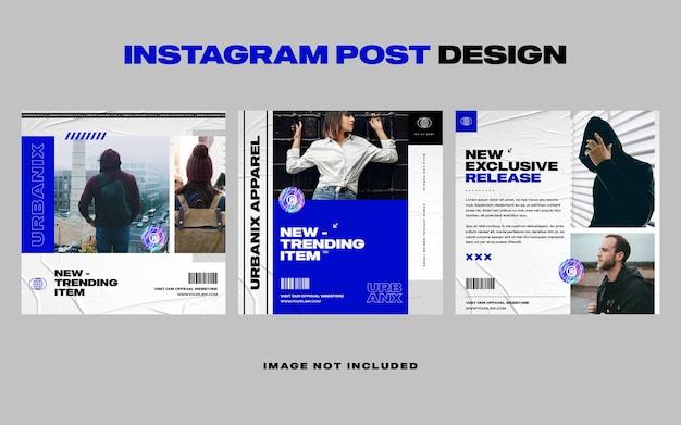 Szablon transparentu postu na instagramie