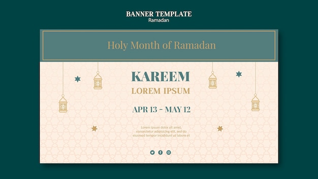 Szablon transparentu ramadanu z narysowanymi elementami
