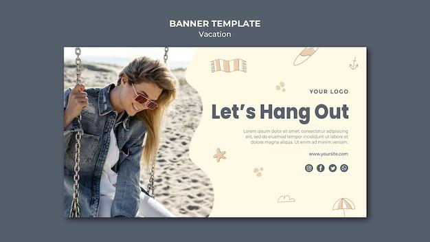Szablon transparentu reklamowego na wakacje