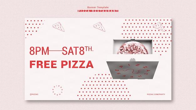 Szablon transparentu reklamy pizzerii