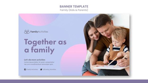 Szablon transparentu rodzinnego ze zdjęciem