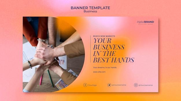 Szablon transparentu rozwoju biznesu ze zdjęciem