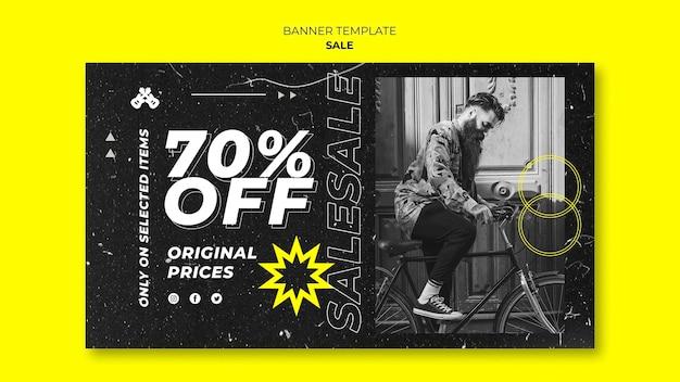 Szablon transparentu sprzedaży mody