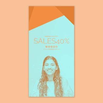 Szablon transparentu sprzedaży z obrazem