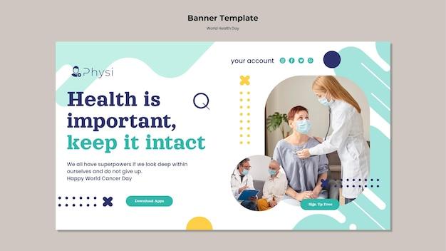 Szablon transparentu światowego dnia zdrowia