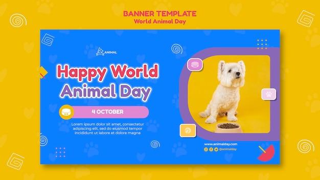 Szablon transparentu światowego dnia zwierząt