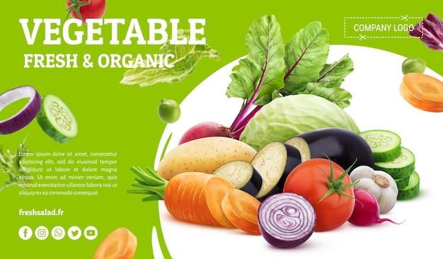 Szablon Transparentu świeżych Warzyw Premium Psd