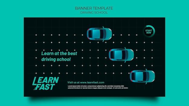 Szablon transparentu szkoły jazdy